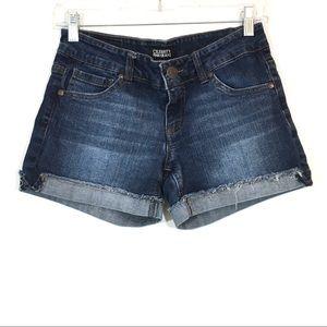 Celebrity Pink Cuffed Denim Shorts Low Rise Sz 5
